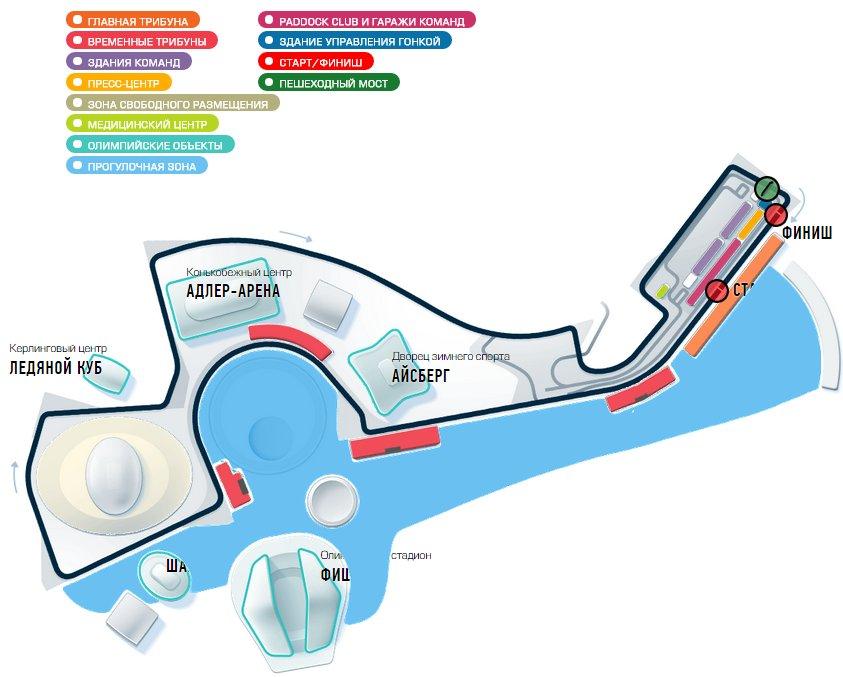 Схема трассы 2015 Formula 1